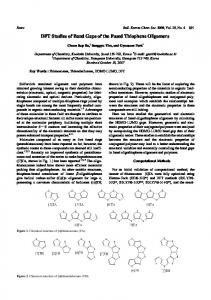 DFT Studies of Band Gaps of the Fused Thiophene ... - EaseChem.com