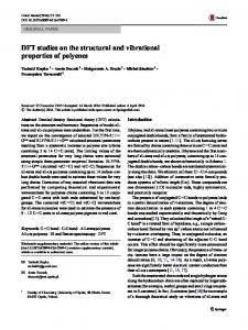 DFT studies on the structural and vibrational properties ... - Springer Link