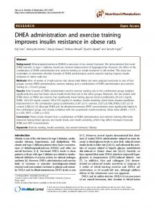 DHEA administration and exercise training improves ... - BioMedSearch