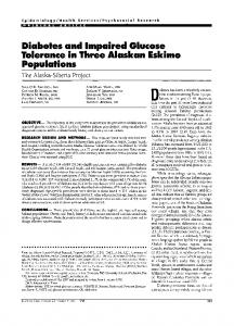 Diabetes and Impaired Glucose Tolerance in Three ... - Diabetes Care