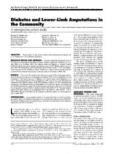 Diabetes and Lower-Limb Amputations in the ... - Diabetes Care