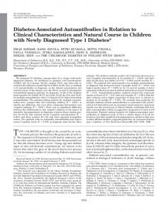 Diabetes-Associated Autoantibodies in Relation to Clinical ...