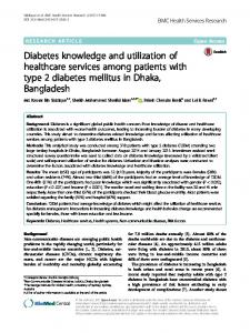 Diabetes knowledge and utilization of healthcare services among ...
