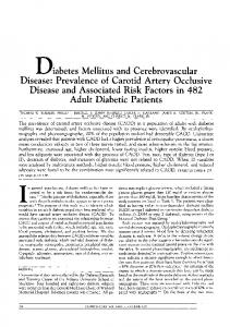 Diabetes Mellitus and Cerebrovascular Disease - Diabetes Care
