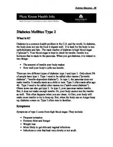 Diabetes Mellitus Type 2 - Hopkins Medicine