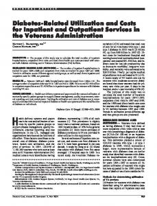 Diabetes-Related Utilization and Costs for Inpatient ... - Diabetes Care