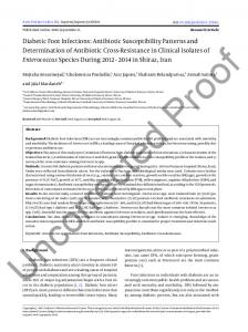 Diabetic Foot Infections: Antibiotic Susceptibility Patterns and ...