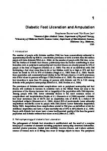 Diabetic foot ulceration and amputation