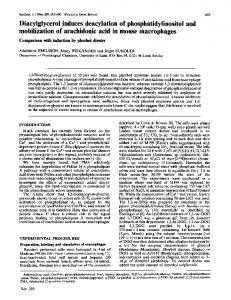 Diacylglycerol induces deacylationof ... - Europe PMC
