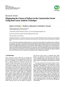 Diagnosing the Causes of Failure in the Construction Sector Using