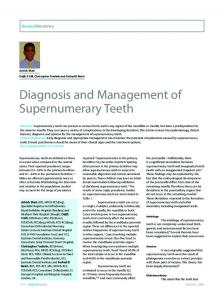 Diagnosis and Management of Supernumerary Teeth - CiteSeerX