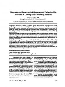 Diagnosis and Treatment of Osteoporosis ... - Semantic Scholar