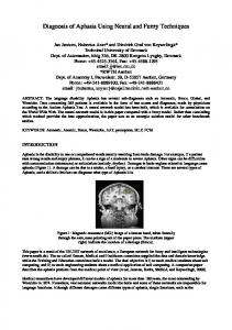 Diagnosis of Aphasia Using Neural and Fuzzy