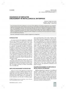 diagnosis of employee engagement in ... - Semantic Scholar