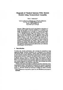 Diagnosis of Physical Systems With Hybrid Models ... - Semantic Scholar