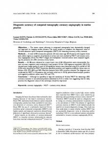 Diagnostic accuracy of computed tomography ...