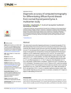 Diagnostic accuracy of computed tomography for ... - PLOS