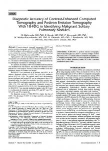 Diagnostic Accuracy of Contrast-Enhanced Computed Tomography ...