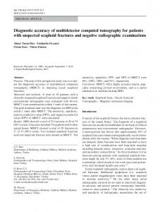 Diagnostic accuracy of multidetector computed tomography for ...