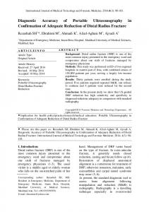 Diagnostic Accuracy of Portable Ultrasonography in ... - Statistics