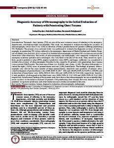 Diagnostic Accuracy of Ultrasonography in the