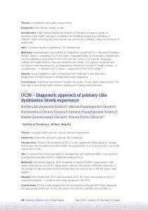 Diagnostic approach of primary cilia dyskinesia: Greek experience