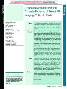 Diagnostic Architectural and Dynamic Features at Breast MR Imaging ...