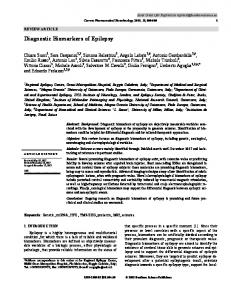 Diagnostic Biomarkers of Epilepsy