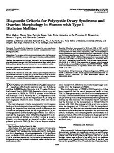 Diagnostic Criteria for Polycystic Ovary Syndrome and Ovarian ...