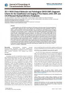 Diagnostic Criteria for the Classification and ... - OMICS International