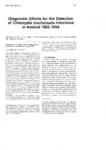 Diagnostic efforts for the detection of chlamydia trachomatis ... - Hirsla