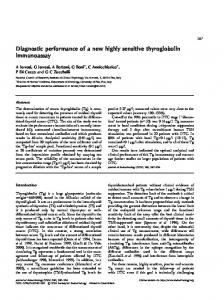 Diagnostic performance of a new highly sensitive thyroglobulin ...