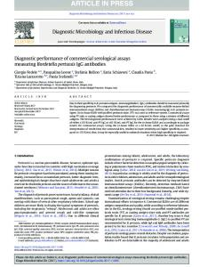 Diagnostic performance of commercial serological