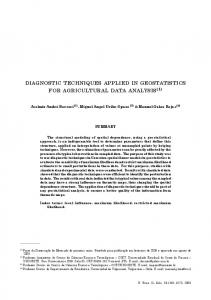 diagnostic techniques applied in geostatistics for agricultural data ...