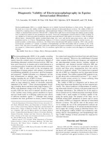 Diagnostic Validity of Electroencephalography ... - Wiley Online Library