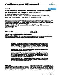 Diagnostic value of harmonic transthoracic echocardiography in native ...