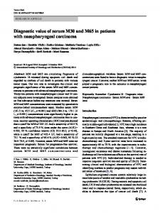 Diagnostic value of serum M30 and M65 in patients ...