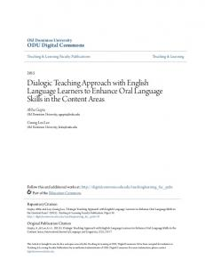 Dialogic Teaching Approach with English Language Learners to
