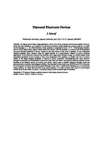 Diamond Electronic Devices