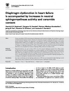 Diaphragm dysfunction in heart failure is ... - Wiley Online Library