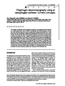 Diaphragm electromyography using an ... - Semantic Scholar