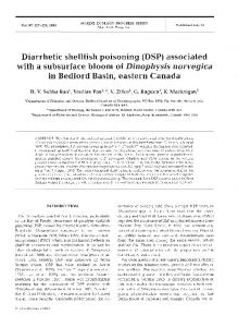 Diarrhetic shellfish poisoning (DSP) - Inter Research
