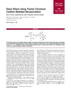 Diaryl Ethers Using Fischer Chromium Carbene Mediated ...