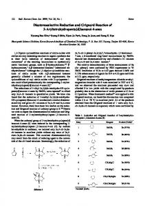 Diastereoselective Reduction and Grignard Reaction of 3 ...