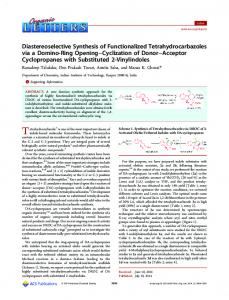 Diastereoselective Synthesis of Functionalized Tetrahydrocarbazoles