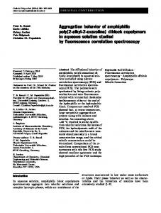 diblock copolymers in aqueous solution studied by ... - TU Dresden