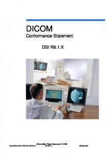 DICOM Conformance Statement DSI R6.1 - Philips