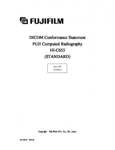 DICOM Conformance Statement FUJI Computed Radiography HI ...