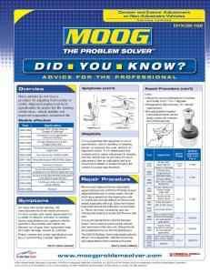DID n YOU KNOW? - MOOG Parts | The Problem Solver