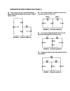 Diefenderfer & Holton Problems from Chapter 1
